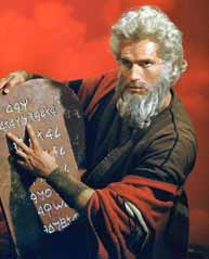 Charlton Heston som Moses