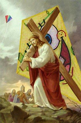 jesus på et kors