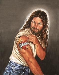 Jesus med Tatovering